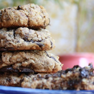 Wholewheat Oat and Chocolate Chunk Cookies