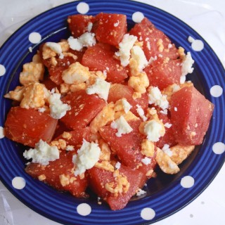 Watermelon Feta Salad with Roasted Chilli Oil Dressing