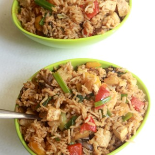 Thai Style Tofu, Pineapple and Vegetable Fried Rice