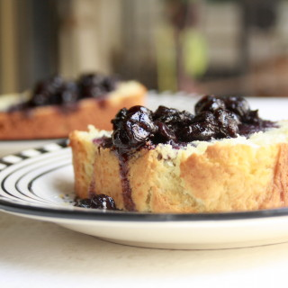 Ricotta Cake with Chunky Blueberry Sauce