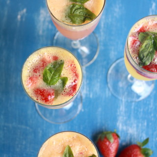 Strawberry Mimosas (two ways)