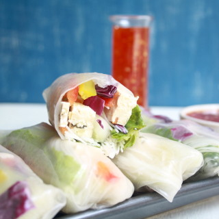 Vegan Summer Rolls with Homemade Sweet Chilli Sauce