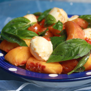 Roasted Tomato & Peach Caprese Salad