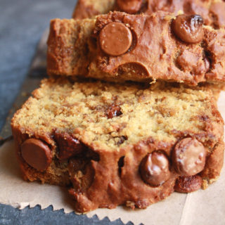 Chocolate Chip Banana Bread (Eggless)