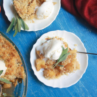 Apple Crumble with Sage (Eggless)