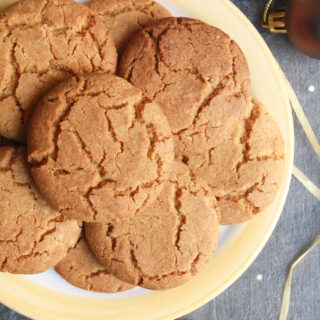 Crunchy Ginger Biscuits (Eggless)