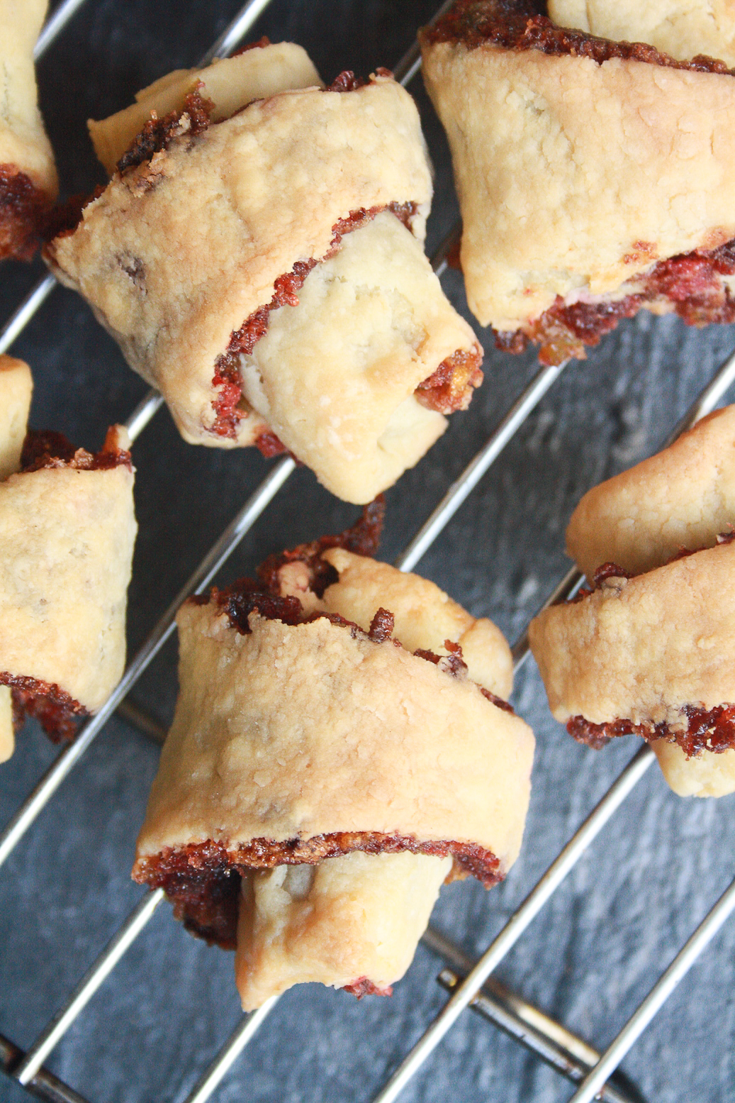 A super Christmasy fruit mince rolled inside buttery, flaky rugelach pastry!