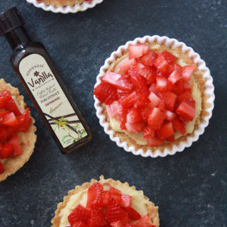 Strawberry Tarts with Vanilla Pastry Cream