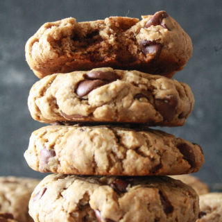 Buckwheat Chocolate Chip Cookies (Eggless & Gluten-Free)