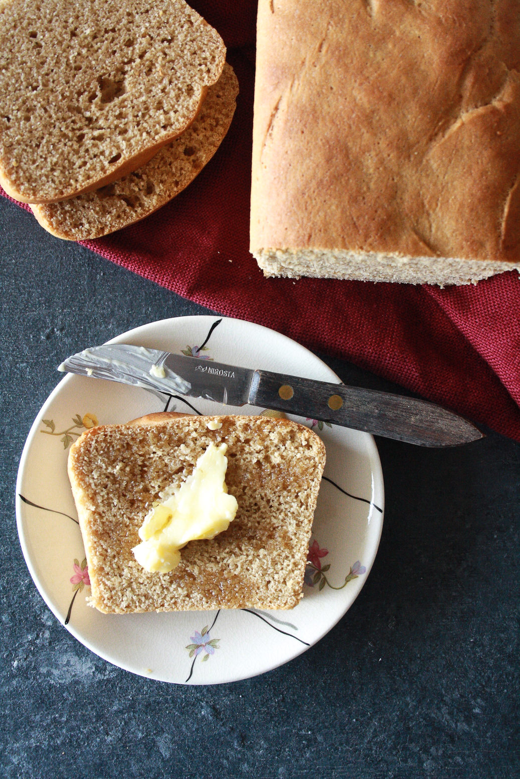 An easy wholewheat bread that's light, chewy and super flavourful!