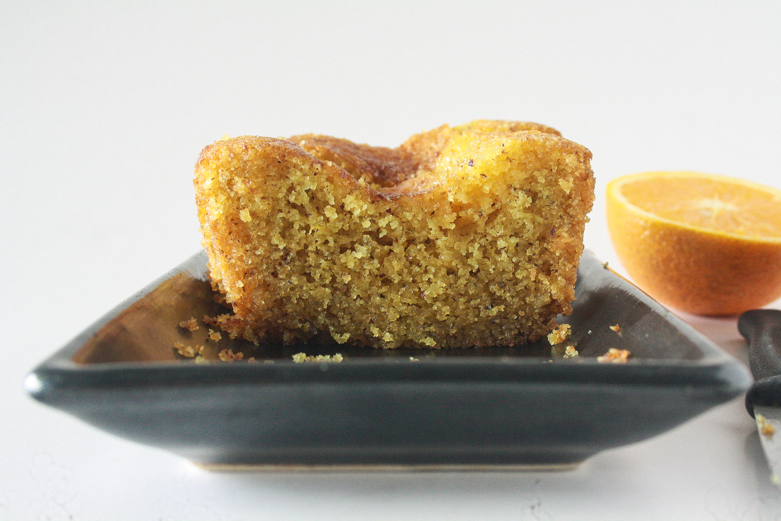 A moist orange cake made with semolina and doused in a simple citrus syrup!