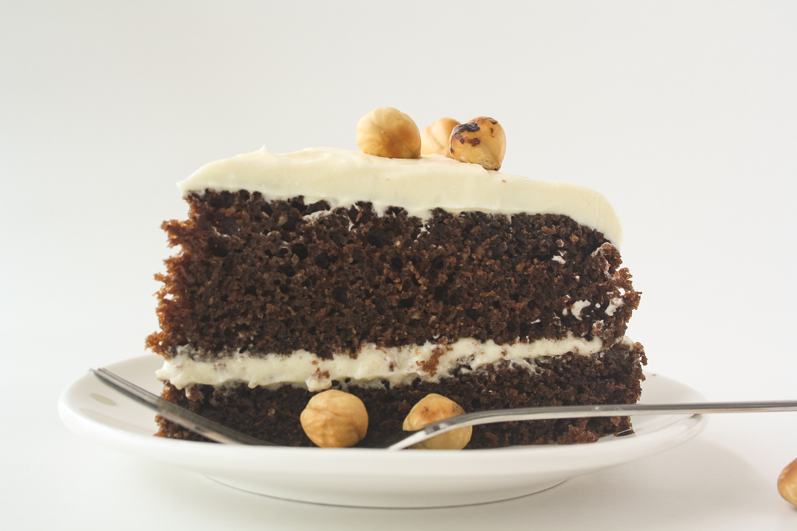 Chocolate Hazelnut Layer Cake with Cream Cheese Frosting