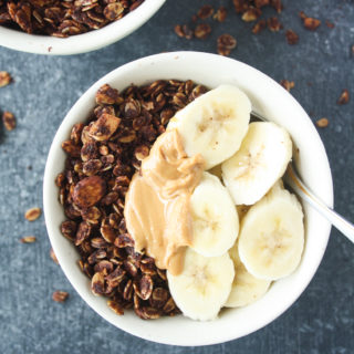 Chocolate Peanut Butter Granola (Vegan/GF)
