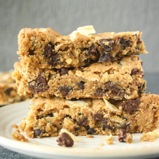 Chocolate Chip Potato Chip Cookie Bars