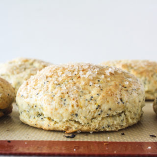 Tender scones bursting with fresh orange zest and poppy seeds!