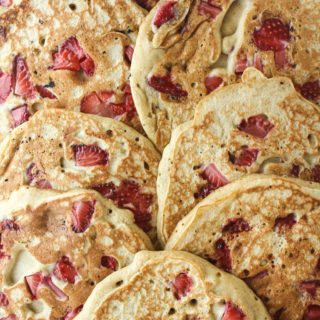 Strawberry Pancakes with Buckwheat & Rye