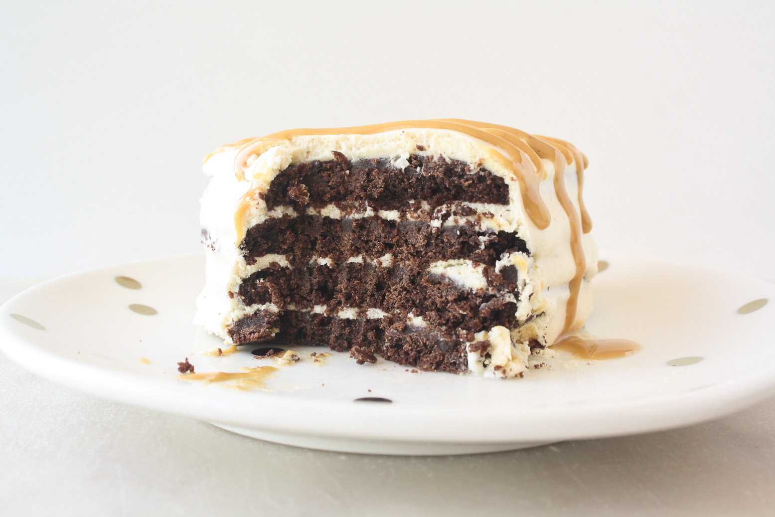Easy and delicious icebox cakes with homemade chocolate cookies and peanut butter whipped cream!