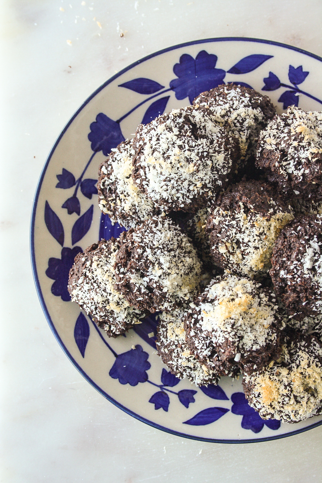 Intensely chocolatey, fudgy, chewy coconut macaroons made with dark chocolate!