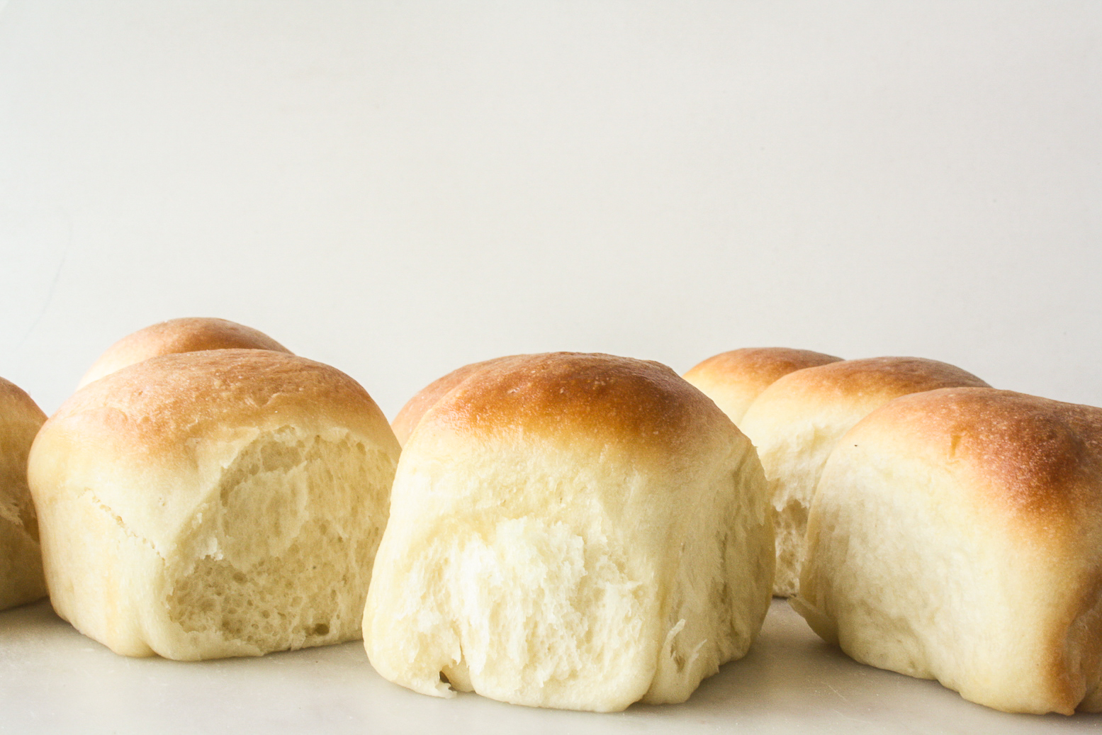 Soft, fluffy homemade rolls without eggs!