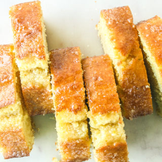Orange Pound Cake with Whiskey Glaze