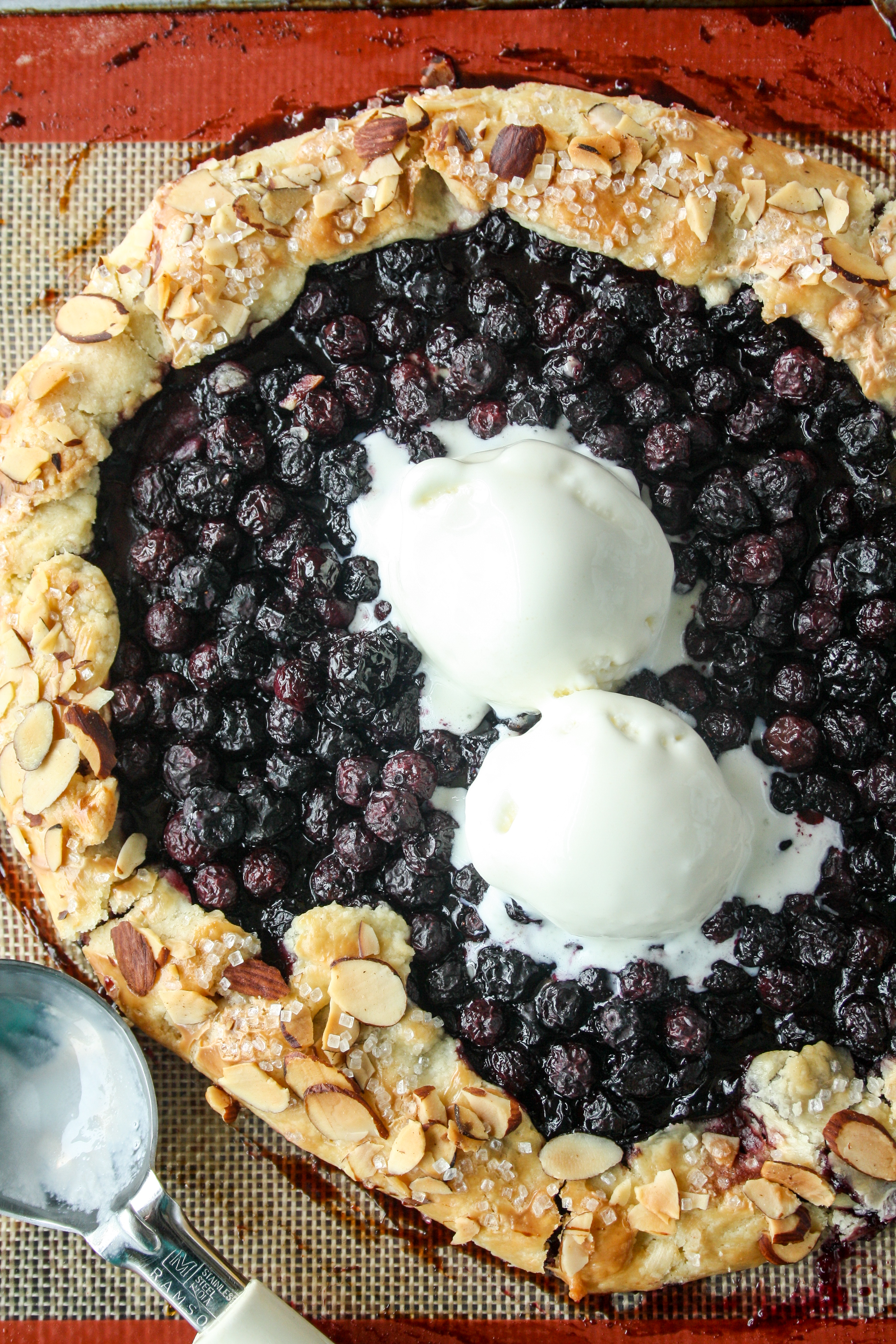 Buttery, flaky, rustic galette loaded with juicy blueberries!