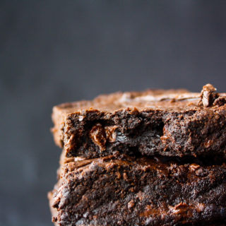 Rich, fudgy, extra dark brownies!