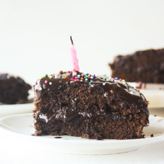 Chocolate Cake with Caramel Chocolate Frosting