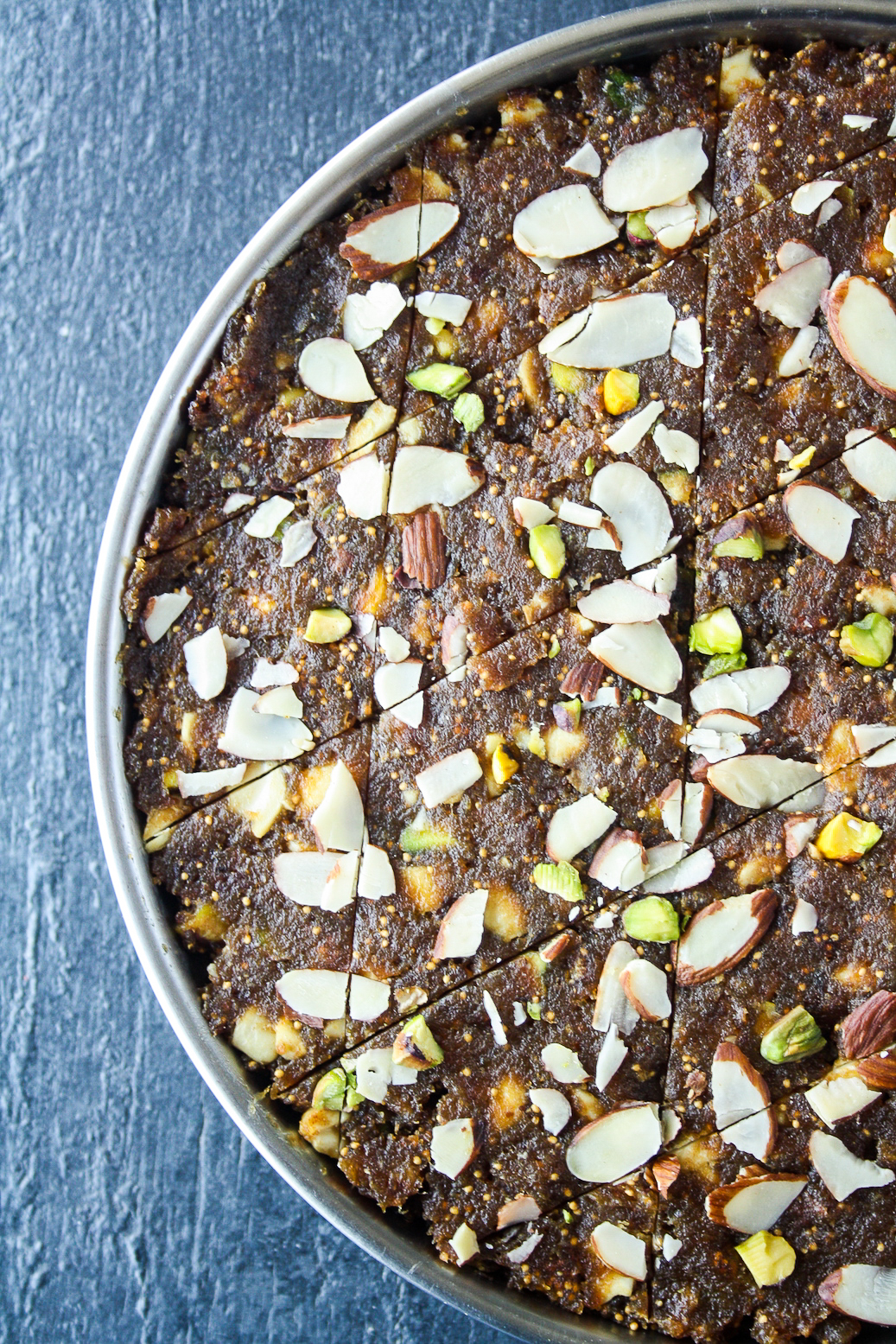 Anjeer burfee, soft and chewy fig, date and nut bars