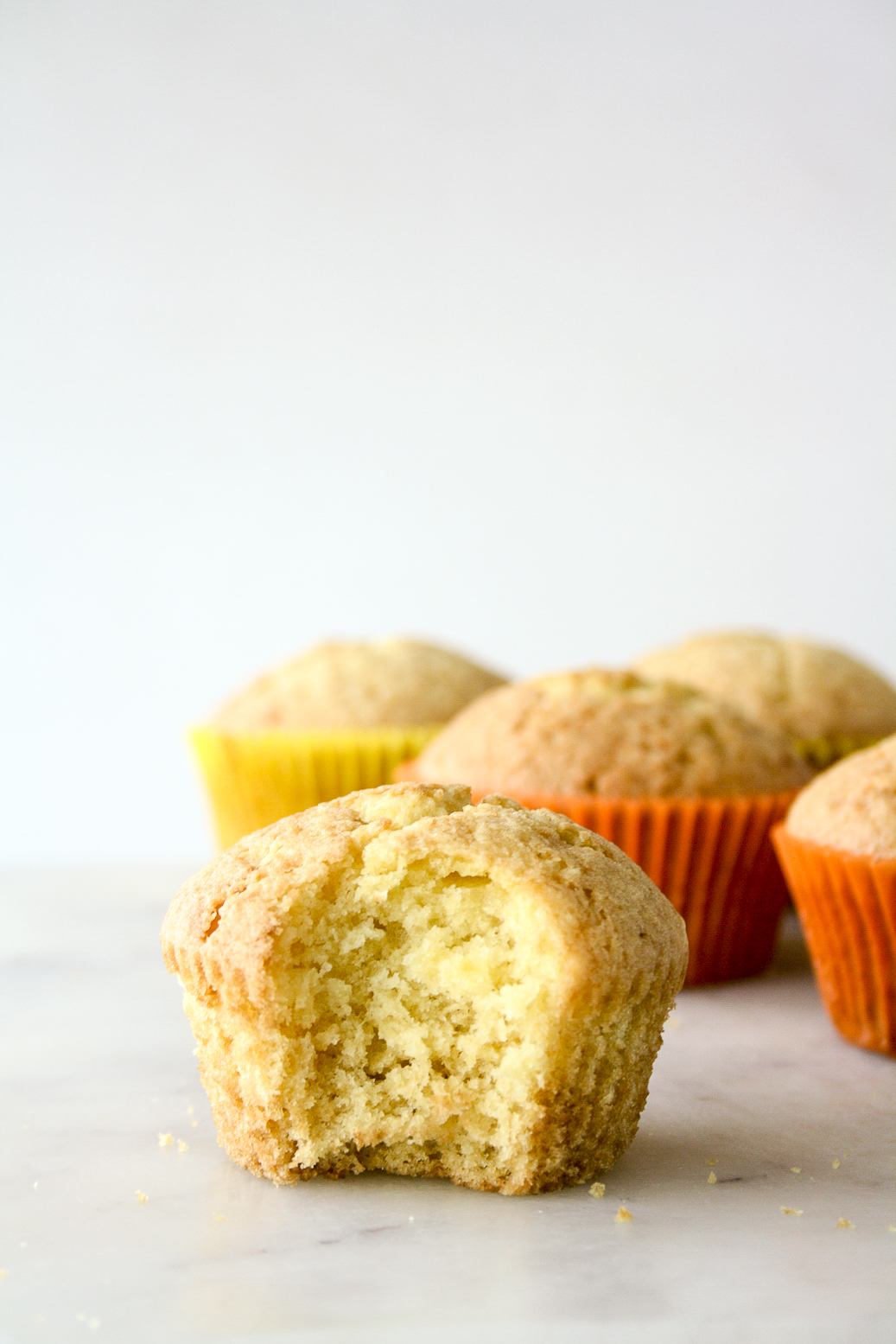 Soft citrusy muffins with fresh orange juice and pulp