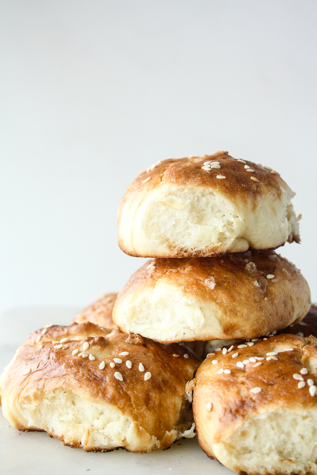 Soft, buttery rolls with a pretzel-like crust!