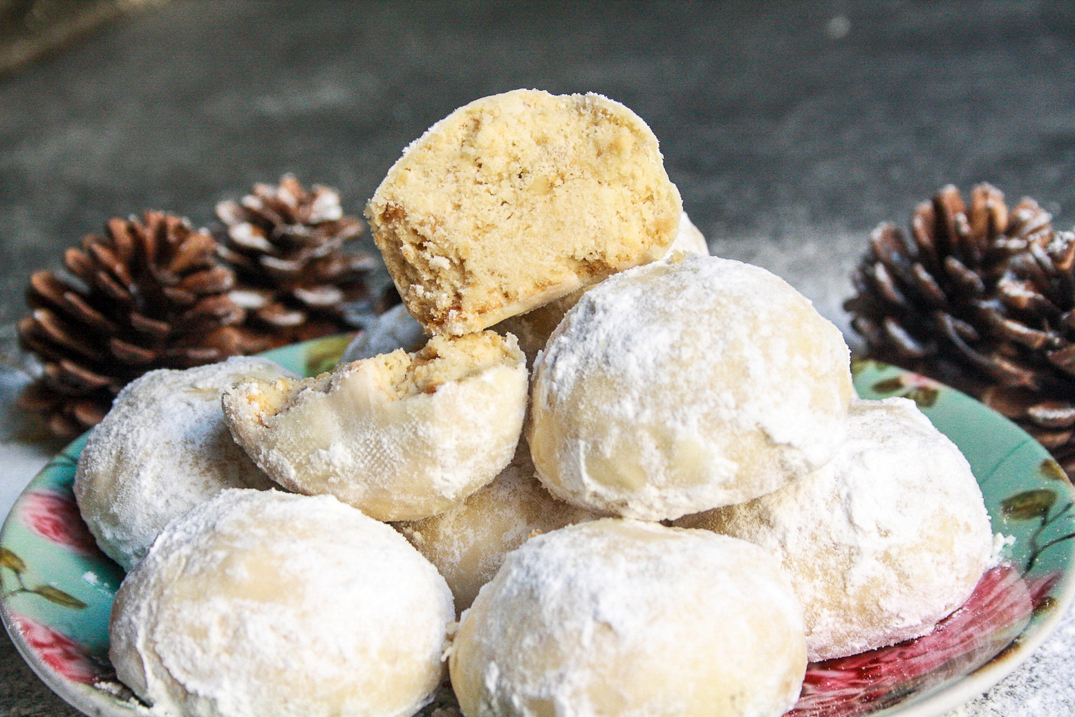 Buttery hazelnut snowball cookies