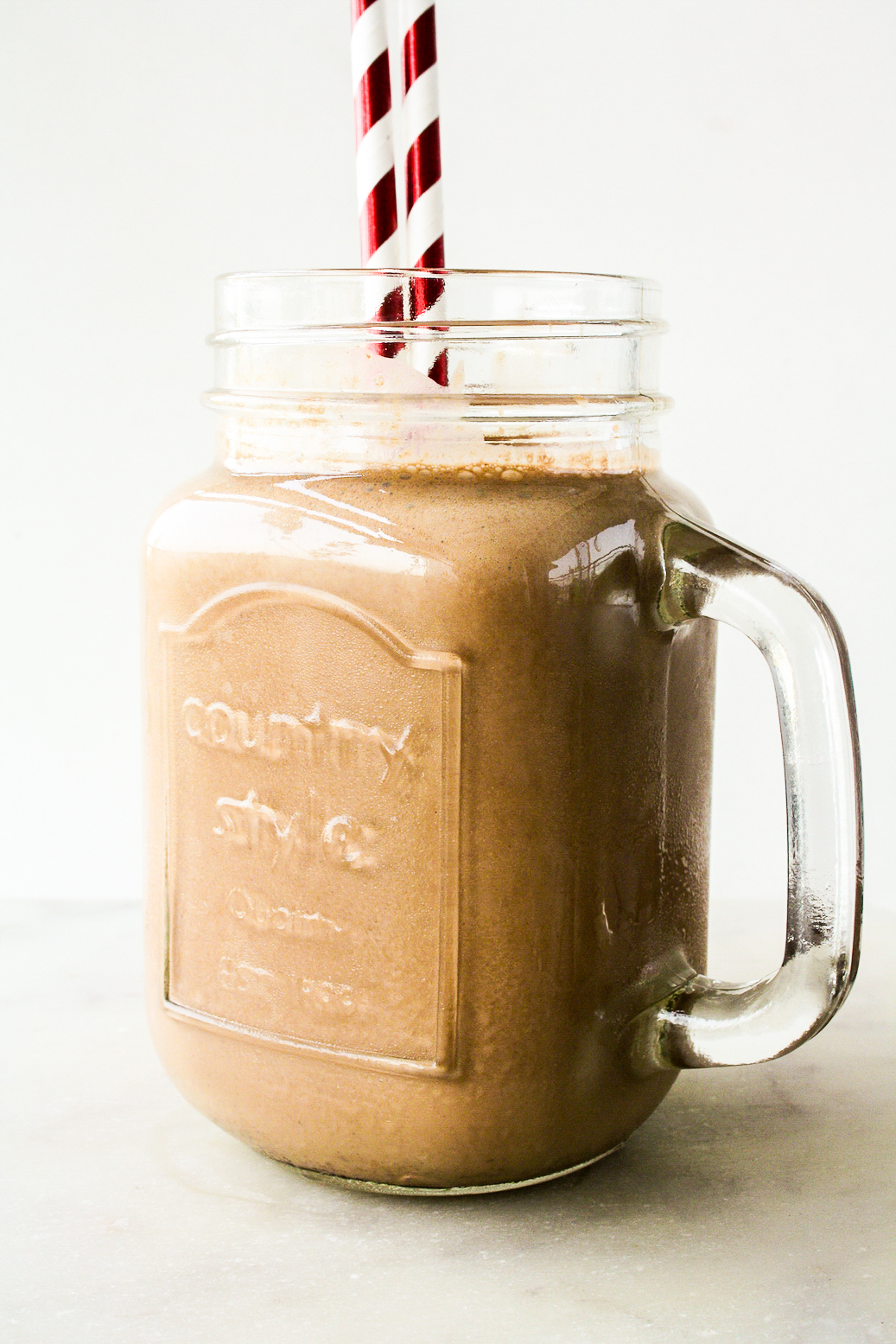 Creamy, ice cold chocolate and coffee drink perfect for the summer!