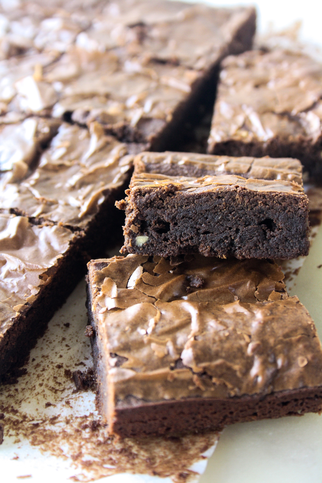 Chewy, fudgy chocolate brownies with crunchy peanut butter flavour