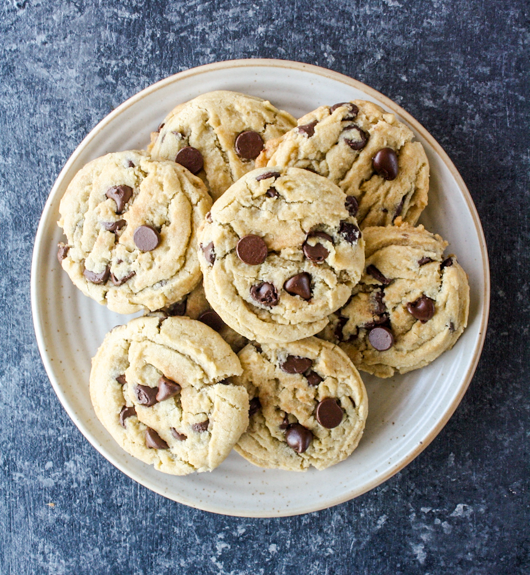 Chewy Eggless Chocolate Chip Cookies